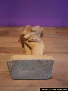 Holzfigur geschnitzte Figur aus Holz 35cm hoch Bauer Weinbauer