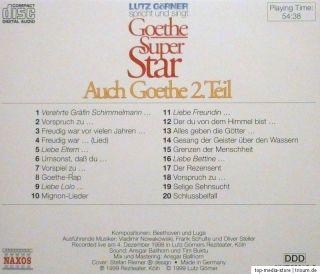 Lutz Görner / Spricht und Singt Goethe Super Star 5   Auch Goethe 2
