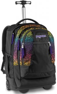 JanSport Driver 8 Rolling Wheeled Backpack Black Animal Frenzy TN897TY