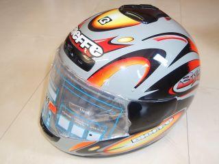 Bieffe Motorradhelm Helm grau/schwarz/rot Gr. XL / 61 i902