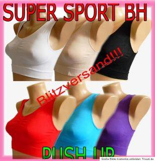 Push Up Ahh BRA Sport BH FORM ohne Bügel Bustier Body Top Microfaser