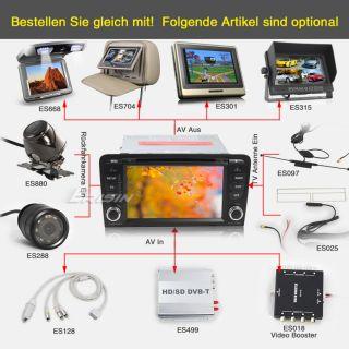 ES883GE 7 HD Autoradio Car DVD Player GPS DVB T iPod BiB Can Bus SWC