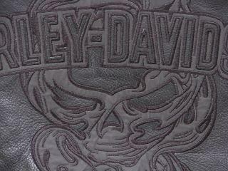 Org. Harley Davidson Custom Leder Jacke Gr. XXL NEU