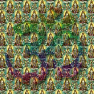 lsd blotter art  SHIVA OMs 900 Hits full sheet  goa acid trance