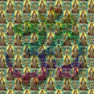 lsd blotter art  SHIVA OMs 900 Hits full sheet  goa acid trance