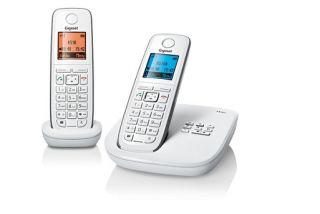 SIEMENS GIGASET A510A DUO WEISS SCHNURLOS TELEFON OVP A 510 A