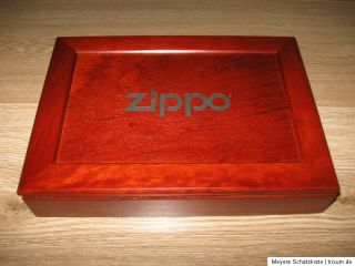 Original ZIPPO empty collectible wooden box   8 Place Original box