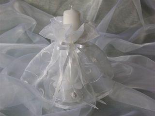 Kerzenrock Kerzentuch Hochzeit Kommunion Konfirmation Firmung Farbwahl