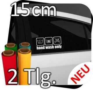 2x 15cm Hand wash only Handwäsche Sticker Aufkleber Motorrad Auto