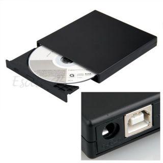 Externes USB 2.0 CD ROM slim Laufwerk für Netbook PC laptop notebook