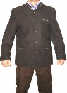 Farbe dunkelbraun Die Jacke besteht aus feinstem Ziegenleder , sehr