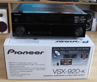 Pioneer VSX 920 AV Receiver HDMI 3D DOLBY DTS HD 1080p