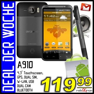SMARTPHONE STAR A910+ ANDROID V2.2 PDA GPS 460MHz DUAL SIM 4,3