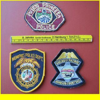 Stück Aufnäher patches USA MEMPHIS POLICE Puerto Princesa SHERIFF