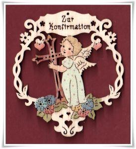 Geschenkanhänger Zur Konfirmation color 6 cm (921)
