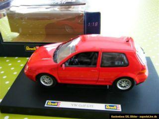 Revell Metal VW Golf GTI rot 118 08943 Modellauto