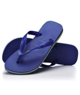 Havaianas Brasil Flip Flops, Marine Blue   Brand New in Box*