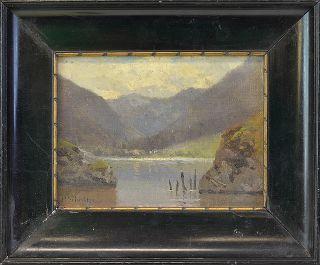 ROBERT SCHULTZE (DT., 1828 MAGDEBURG – 1910 MÜNCHEN) »BERGSEE« #