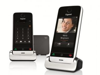 Gigaset SL910A Duo ECO DECT Touch Telefon schnurlos mit AB metall
