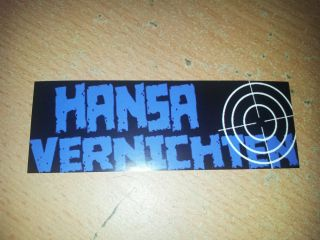 90x Hansa vernichten Scheiss Rostock Aufkleber Sticker Ultras