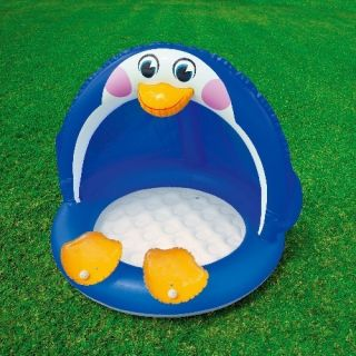 INTEX Baby Pool Pinguin, 102 x 83 cm / aufblasbarer Boden / Sonnendach