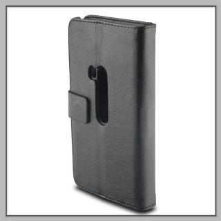Etui Wallet Cover Tasche Case Bumper Black für Nokia Lumia 920