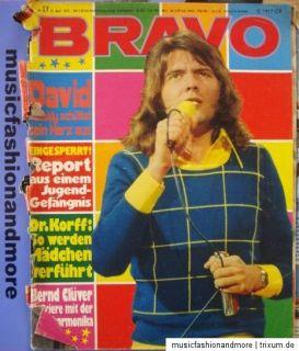 BRAVO HEFT NR. 17 / 1973 ~ Bernd Clüver ; David Cassidy ; Beatles ; P