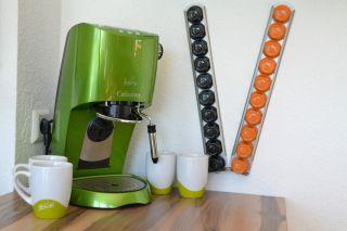 Tchibo Cafissimo Kaffeemaschine grün metallic inkl. 4