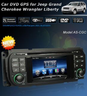 Car DVD Player GPS Navigation System for Jeep Grand Cherokee Liberty