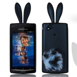 Cute Rabbit Tail Silicone Case Cover For Sony Ericsson Xperia Arc