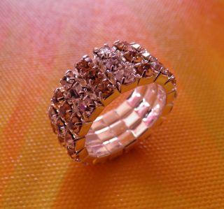 Ring Stretch 925 Silber Gold Plated Zirkonia Stretchring Neu Damen