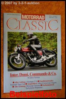 Motorrad Classic 6/92 Norton Zündapp Z 211 Triumph