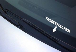 Tickethalter Aufkleber Strafzettel NEU freie Farbwahl Sticker shocker