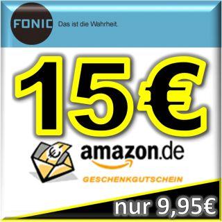 FONIC Prepaid SIM Karte 15 00 O  Gutschein kostenlos gratis