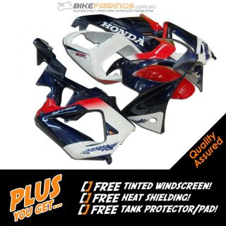 CBR 929 CBR929RR 00 01 2000 2001 WHITE BLUE Honda Fairing Fairings