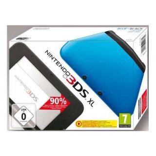 Nintendo 3DS XL blau schwarz ohne Netzteil 3D Fotos Mii Maker Face