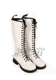 Women PU Leather Lace Up Riding Boots Shoes US ALL Sz Y005