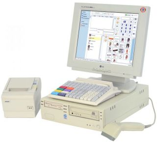 Kassensystem T Systems mit Monitor, Drucker, Kassenschublade, Tastatur