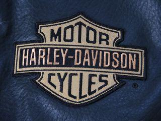 Org. Harley Davidson Oldschool Leder Jacke Gr. L