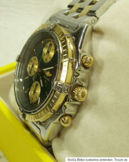 BREITLING CHRONOMAT HERRENUHR AUTOMATIC in STAHL / GOLD mit Box und