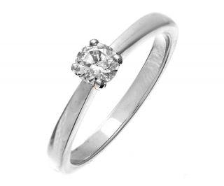 Klassischer Platin 950 Solitär Verlobung Damen   Diamant Ring 0.33