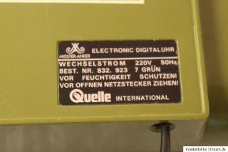 Quelle Meiser Anker Uhr Elecronic Digialuhr Wecker 70er grün green