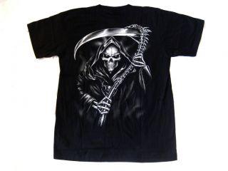 Shirt Sensenmann Totenkopf skull gothic Biker metal