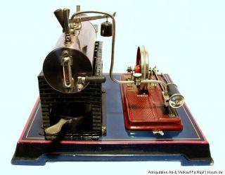 Uralt Bing Dampfmaschine liegender Kessel um 1920/30 original