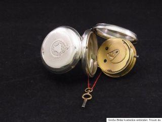 englische Taschenuhr L. ROSENBERG LEEDS Silber Pocket watch antik
