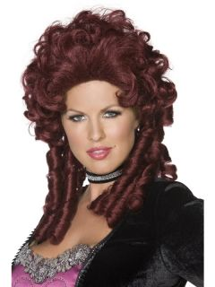 Vampir Barock Damen Perücke Grafin rot Halloween