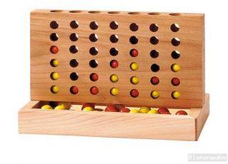 TOYS pure   4 gewinnt   Geduldsspiel aus Holz   vier gewinnt