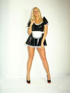 Dienstmädchen Outfit Lack Mini Kleid S XXXL  POLAND FASHION STYLE