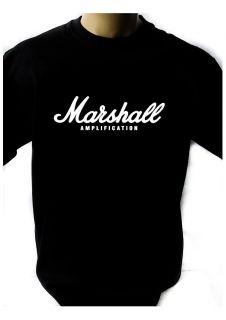 MARSHALL LOGO BLACK NEW T SHIRT FRUIT OF THE LOOM DTG
