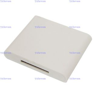 Bluetooth Music Receiver Adapter White for iPod iPhone 4S Docking Dock